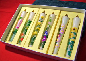 6 Book set 3 No. candle 'original flower poetry' (hand-painted )