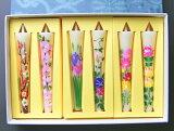 店長おまかせ 定番 花の詩 3号絵ろうそく 6本入 (手描き)絵ローソク 和ろうそく 仏具