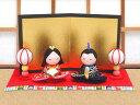 雛人形 ひな人形「ちりめん細工 ちっちゃな友禅座り雛」rh307 お雛様 コンパクト/リュウコドウ|