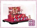 雛人形ケース飾り「桜金襴几帳 すこやかわらべ雛 十人揃い」rhk391sb|| ...