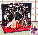 雛人形 ひな人形「優しいお顔の正絹西陣金襴王朝親王飾り雛 桜...