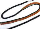 先割れ正絹帯締め帯〆黒色 振袖成人式&着物に
