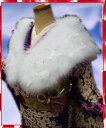 スワン羽毛ショール白にラメ銀白羽根 振袖成人式&卒業式袴に