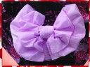 浴衣に♪結び方簡単♪ふわっふわ兵児帯薄紫地桜桜