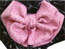 兵児帯 へこ帯 リバーシブル ピンク薄ピンク地織地桜桜 日本製 浴衣 ゆかた 女性用 レディース