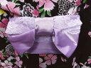 子供用簡単ワンタッチレース結び帯付け帯作り帯薄紫 キッズ女の子浴衣ゆかたに