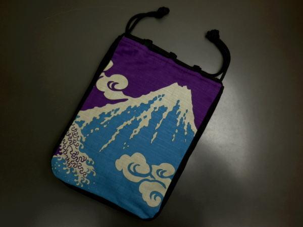 粋なメンズ男物男性巾着(信玄袋)富士山 浴衣&着物にの商品画像