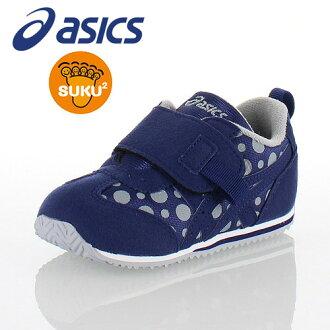 亞瑟士asics sukusuku SUKUSUKU愛達荷BABY PT-ES 2 TUB161-50D小孩嬰幼鞋運動鞋海軍藍