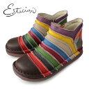 エスタシオン 靴 estacion TG161 (Dマルチ) 本革 ショートブーツ