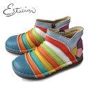 エスタシオン 靴 estacion TG161 (オレンジ) 本革 ショートブーツ