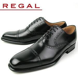 REGAL雕花镂空皮鞋122R黑色