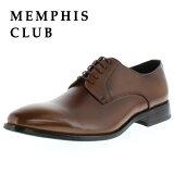 MEMPHIS CLUB 00212 メンフィスクラブ ライトブラウン プレーントゥ 本革 メンズ ビジネスシューズ 撥水加工