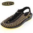 ★30%OFF★ KEEN メンズ サンダル UNEEK Flat Cord ユニーク フラットコード 1014624 YELLOW/CAMO