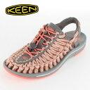 KEEN レディース サンダル UNEEK Flat Cord ユニーク フラットコード 1014756 FUSION CORAL CAMO