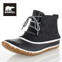 SOREL Out n About Leather NL2133 011 BlackWhite ソレル アウトアンドアバウトレザー レディース ブーツ 防水設計