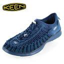 キーン KEEN メンズ サンダル UNEEK O2 ユニーク オーツー 1017857 MAJOLICA BLUE-LEGION BLUE オープンエアースニーカー