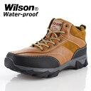メンズ ブーツ ウイルソン Wilson 391 CAMEL メンズ ワークブーツ カジュアルブーツ 防水 防滑 3E ...