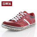 EDWIN エドウィン EDW-7537 RED メンズ スニーカー カジュアル 軽量 カップインソール ローカット レッド