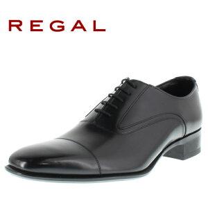 リーガルコーポレーション メンズ ビジネスシューズ ストレートチップ REGAL 725R AL ブラック 紳士靴 特典B