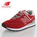 ニューバランス メンズ スニーカー new balance ML574 ERD TEAM RED ワイズ D