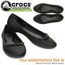 クロックス リナ エンベリッシュド フラット ウィメン crocs lina embellished flat w 203405 レディース シューズ