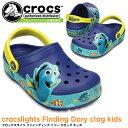 クロックス クロックスライツ ファインディング ドリー クロッグ キッズ crocs crocslights Finding Dory clog kids 20...