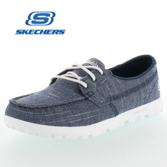 suketchazu SKECHERS ON THE GO-MIST 13841/NVW NAVY/WHITE女士運動鞋走路用的鞋