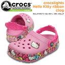 楽天ワシントン靴店クロックス クロックスライツ ハローキティ リボン クロッグ crocs crocslights Hello Kitty ribbon clog 201262 キッズサンダル