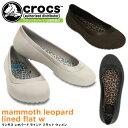 クロックス マンモス レオパード ラインド フラット ウィメン crocs mammoth leop