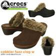 クロックス コブラー ファズ クロッグ ウィメン crocs cobbler fuzz clog w 16288