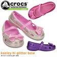 ショッピングCROCS クロックス キーリー ハイグリッター ボウ crocs keeley hi glitter bow 16190 キッズ サンダル