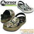 クロックス クロックバンド 2.5 カモ クロッグ crocs crocband 2.5 camo clog 201833 サンダル レディース メンズ
