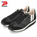 パトリック スニーカー マラソン PATRICK MARATHON SHINY-M BLK 528741 ブラック メンズ レディース 靴 日本製
