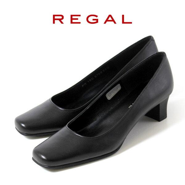 リーガル 【送料無料】 レディース 黒 パンプス 靴 REGAL 6768 本革 リクルー…...:washington:10013108