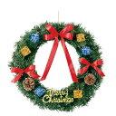 45cmバリューリース クリスマス インテリア クリスマスリース 玄関 PVC リボン レッド メリークリスマス リース 12月 イベント パーティー おしゃれ かわいい インテリア