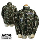 Aape BY A BATHING APE エイプ エーエイプ アベイシングエイプ フライトジャケット ブルゾン カモ AAPE CAMO M-65 JACKET メンズ