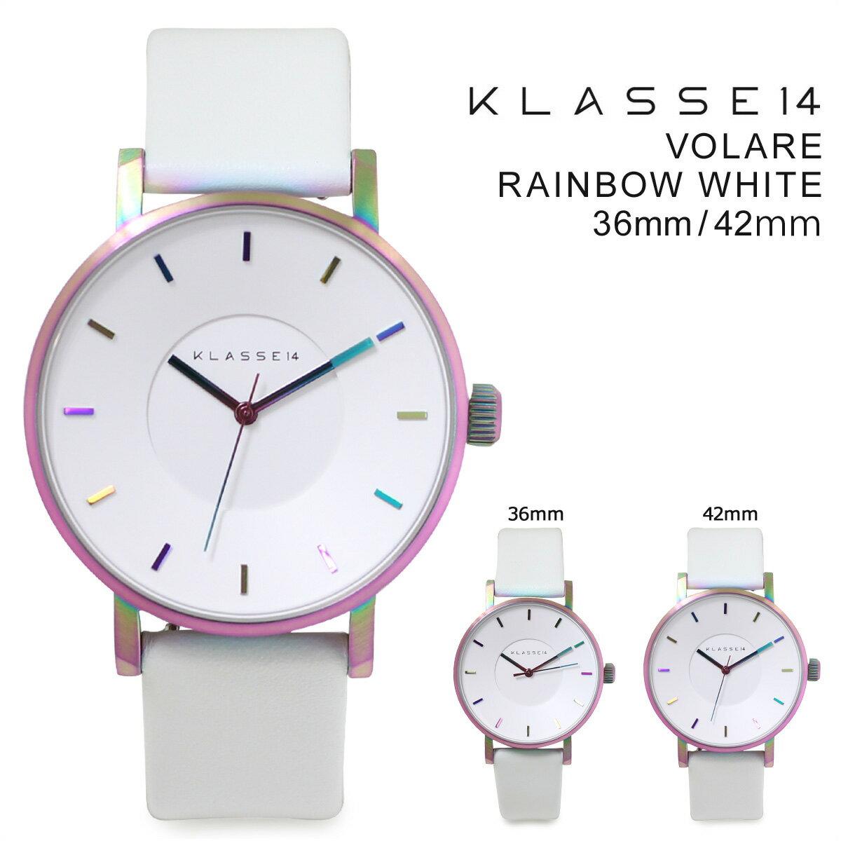 クラス14 メンズ KLASSE14 42mm 36mm レディース 腕時計  VOLARE RAINBOW WHITE ヴォラーレ  VO16TI003M VO16TI003W  送料無料  KLASSE14 クラス14 腕時計 36mm 42mm 正規  通販