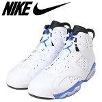 NIKE AIR JORDAN 6 RETRO SPORTS BLUE ナイキ エアジョーダン6 レトロ スニーカー メンズ 384664-107 ホワイト 白