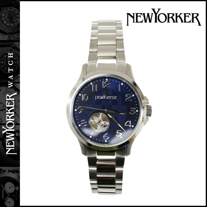 NEWYORKER ニューヨーカー 腕時計  42mm NY005-05 ウォッチ 時計 ブルー JUSTIS  メンズ [ 対象外 ]  送料無料  NEWYORKER ニューヨーカー 腕時計 正規 通販