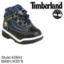 【訳あり】 Timberland ティンバーランド ベビー キッズ ブーツ FIELD BOOTS TD ブーツ フィールドブーツ 42841 ブラック