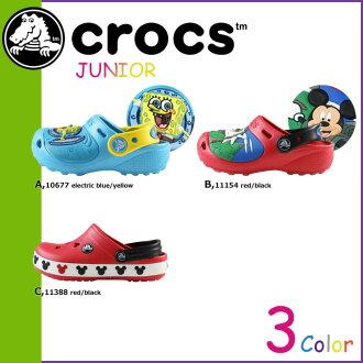 海外真正交叉光戶外運動男式鱷魚 Crocs 涼鞋所有三種堵塞 Jibbitz 初中