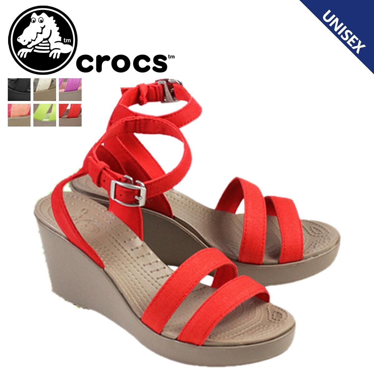 crocs クロックス レディース レイ ウェッジ サンダル WOMEN'S LEIGH WEDGE クロスライト ウェッジソール ヒール 11382 6カラー アウトドア