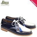 ショッピングタッセル G.H. BASS ローファー ジーエイチバス レディース タッセル WINNIE TIE WEEJUNS 71-22875 靴 ネイビー ホワイト