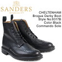 SANDERS CHELTENHAM サンダース 靴 ミリタリー カントリーブーツ 8317B メンズ ブラック [3/22 再入荷]