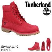Timberland ティンバーランド 6INCHI 6インチ プレミアム ブーツ 6-INCH PREMIUM WATERPROOF BOOTS A1149 Wワイズ 防水 レッド メンズ あす楽