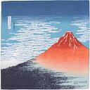 【むす美】チーフ 隅田川 赤富士 コン 48cm【メール便OK】