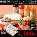 【お中元】【送料無料】佐賀牛カレー4袋+ドレッシング2本セット
