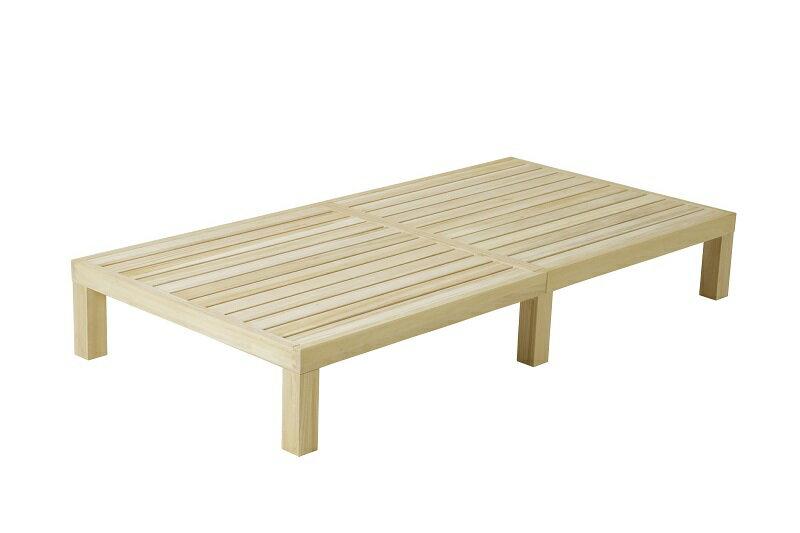 桐のすのこベッド シングルベッド
