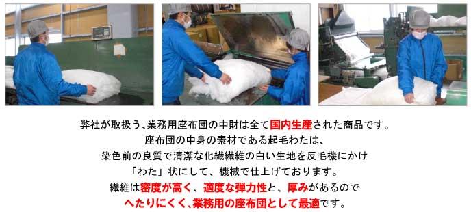 業務用座布団 中材 お得な15枚セット 銘仙判の紹介画像3