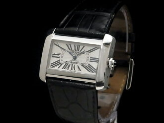 Existence attached to the Cartier - CARTIER - tank divan LM W6300755 SS case / leather (pure)